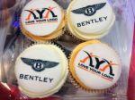 Company logos on cupcakes