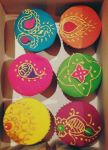 Diwali theme cupcakes