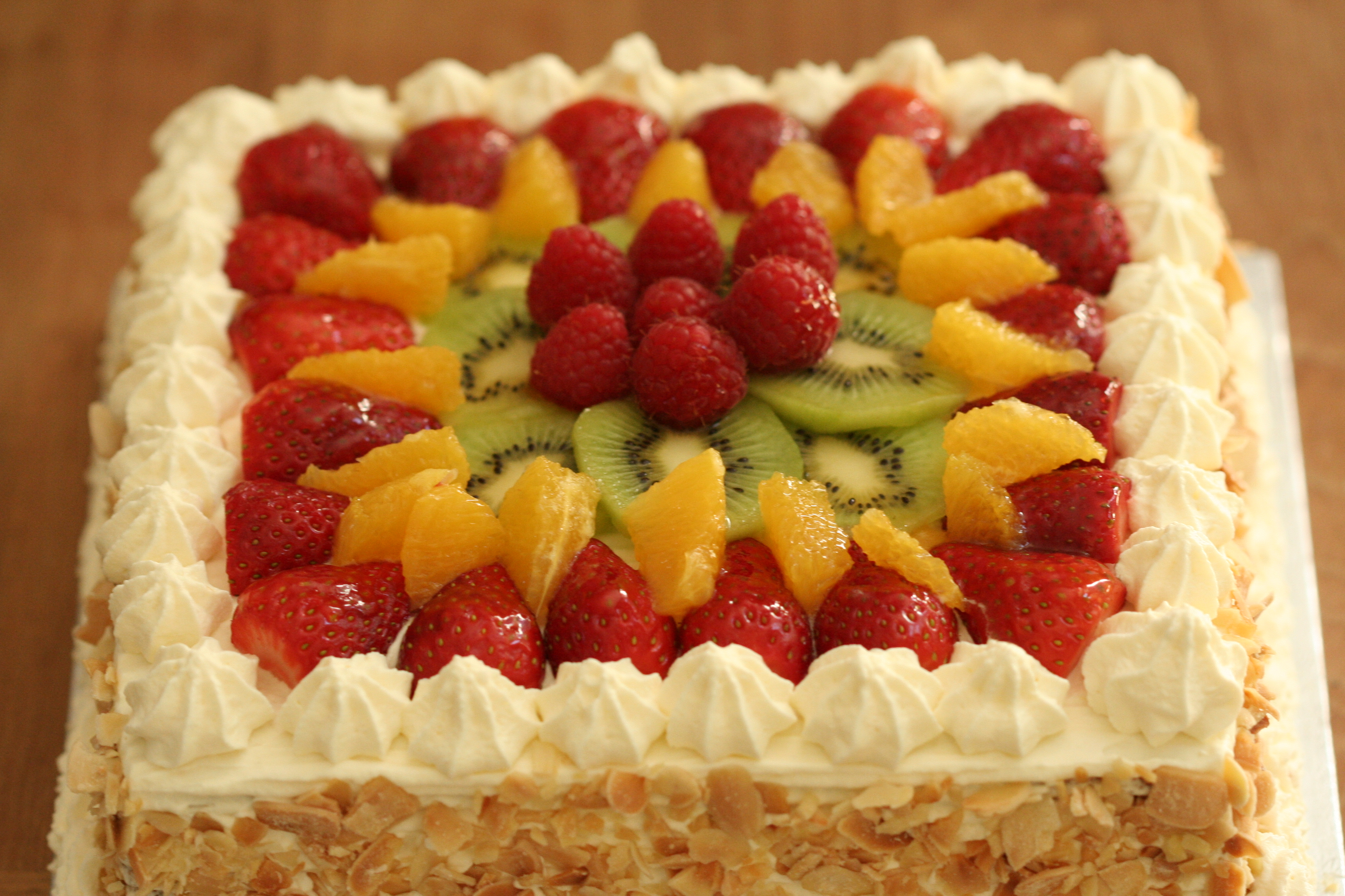 Fresh Fruit And Cream Gateau Cakes Desserts And More