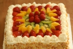 Fresh fruit and cream gateau