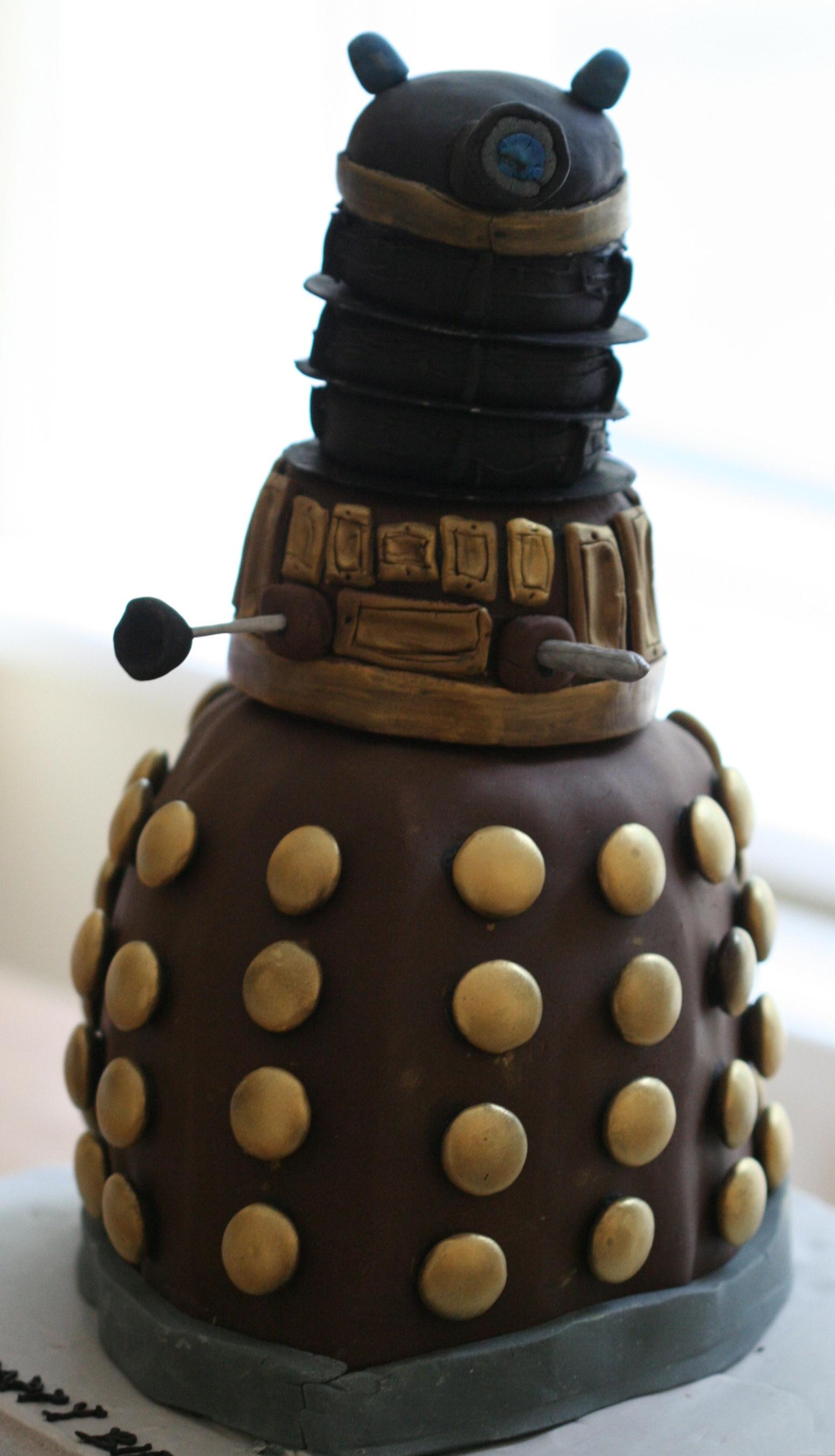 Sensational Dalek Cake Cakes Desserts And More Personalised Birthday Cards Veneteletsinfo