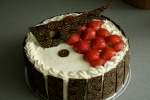 Strawberries and cream gateau