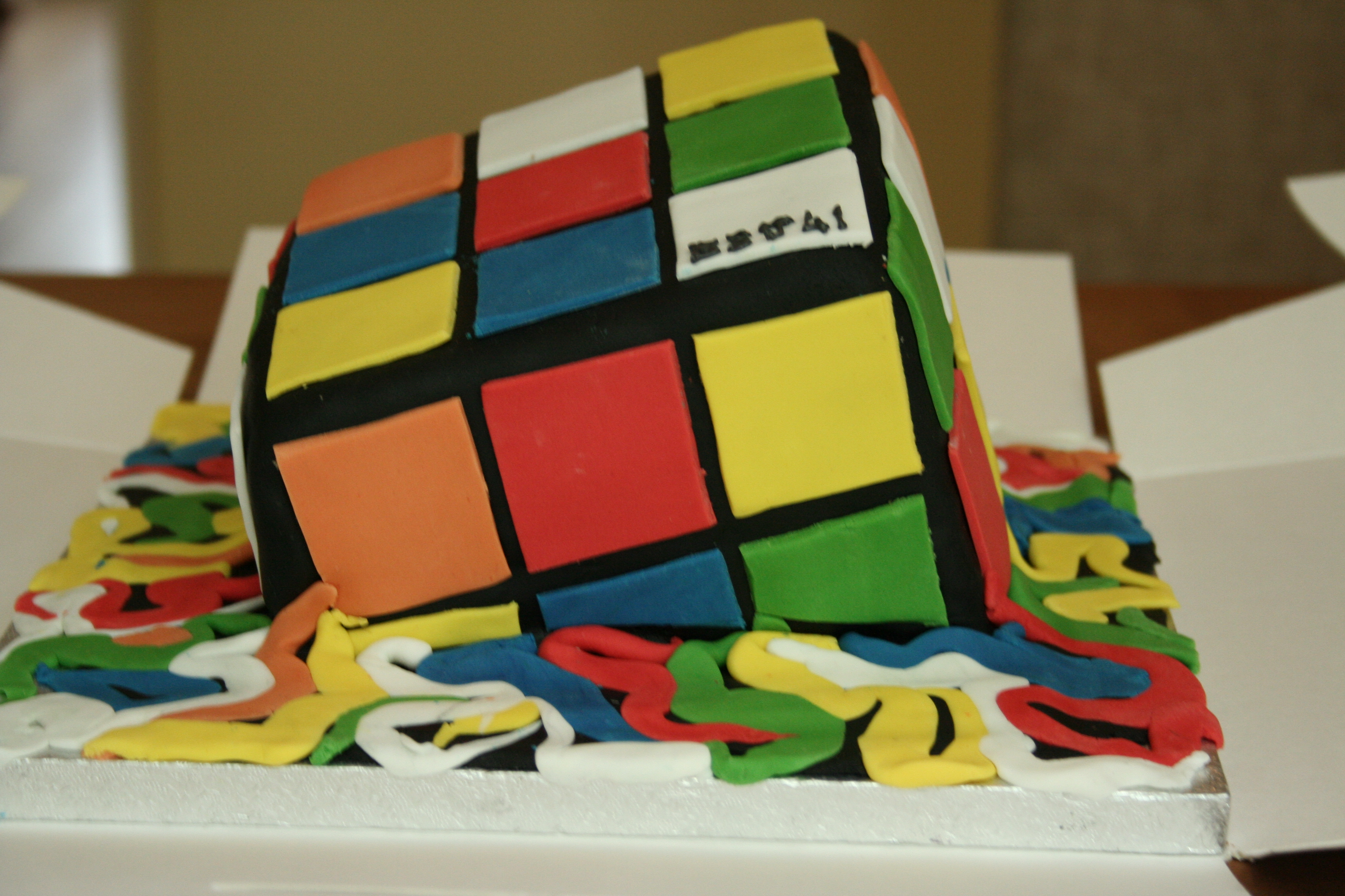 melting rubik s cube cakes desserts and more