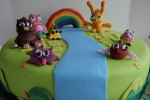 Moshi monster theme cake