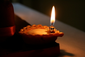 Diya made of marzipan
