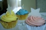 Jam filled vanilla cupcakes