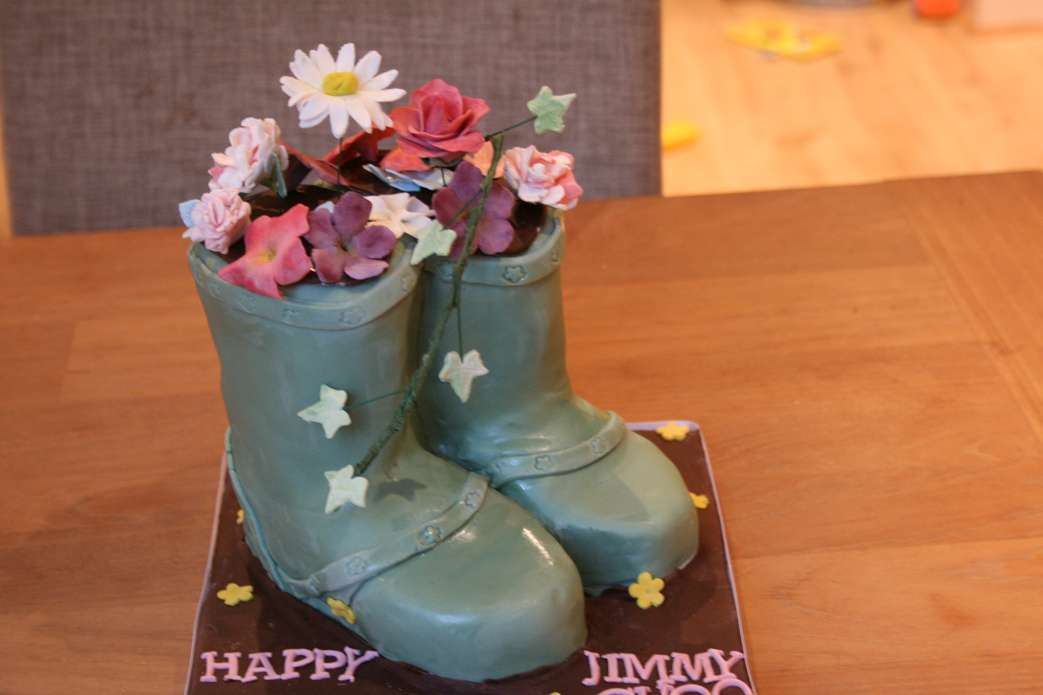 Welly Boot Cake