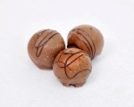 Milk chocolate truffles with coffee and Tia Maria
