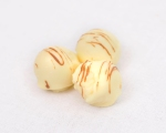 White chocolate and passion fruit truffles